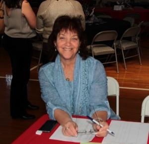 Judy Fishman at check-in